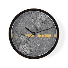 road_twin_duvet Wall Clock