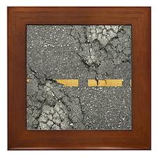 road_twin_duvet Framed Tile