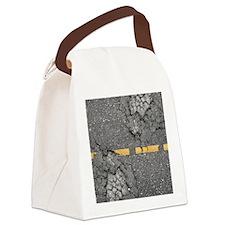 road_twin_duvet Canvas Lunch Bag