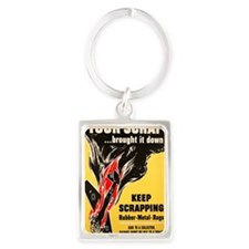 Keep Scrapping Portrait Keychain