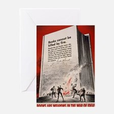 Books are Weapons Greeting Card