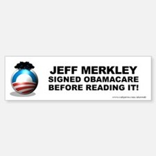Merkley Signed Bumper Bumper Sticker