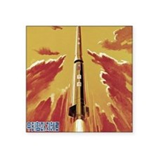 "Mighty Leader Pierces Sky Square Sticker 3"" x 3"""