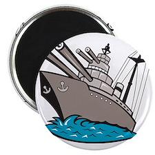 Warship Battleship Boat With Big Guns Magnet