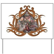 The Enchanted Fairy and Dragon Yard Sign