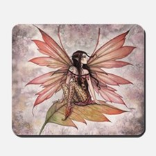 Autumn Drifting Fairy Art Mousepad