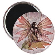 Autumn Drifting Fairy Art Magnet