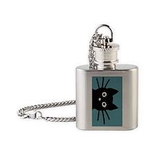 catkeychain2 Flask Necklace