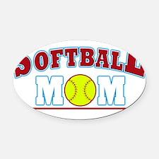 softball mom Oval Car Magnet