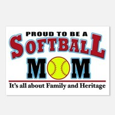 softball mom(white) Postcards (Package of 8)