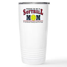 softball mom(white) Travel Mug