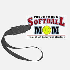 softball mom(white) Luggage Tag