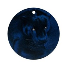 yellow eyes Round Ornament