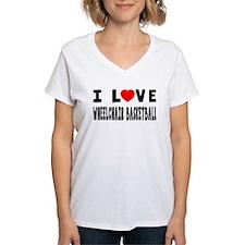 I Love Wheelchair Basketball Shirt