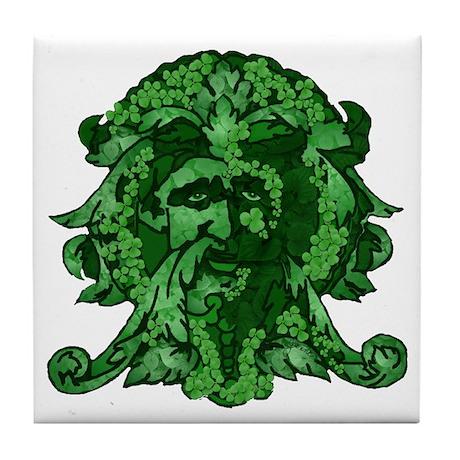 Green Man: Metamorphosis Tile Coaster