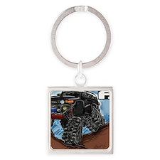 Balck FJ Cruiser Art Square Keychain