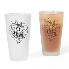 Words Drinking Glass
