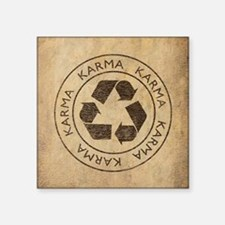 "Vintage Karma Square Sticker 3"" x 3"""