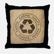 Vintage Karma Throw Pillow