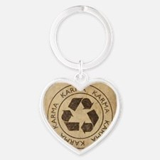 Vintage Karma Heart Keychain
