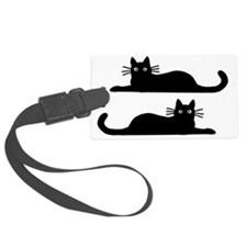 catsrectanglesticker Luggage Tag