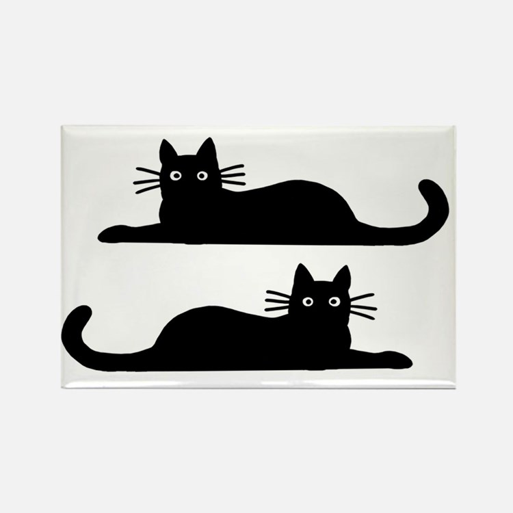 catsrectanglesticker Rectangle Magnet