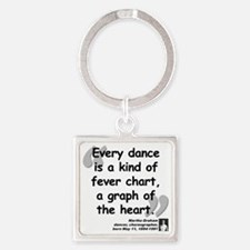 Graham Dance Quote Square Keychain