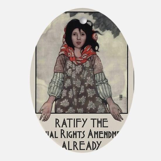 Ratify the ERA Oval Ornament