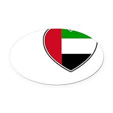 Abu Dhabi1 Oval Car Magnet