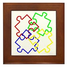 Autism Large Framed Tile