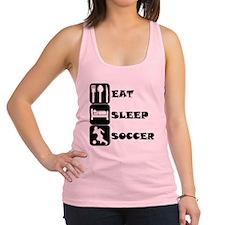 Eat Sleep Soccer Racerback Tank Top