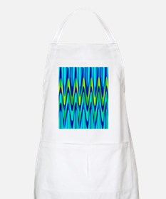Wild Zigzag Blue and Lime Apron