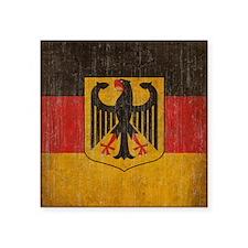 "Vintage Germany Flag Square Sticker 3"" x 3"""