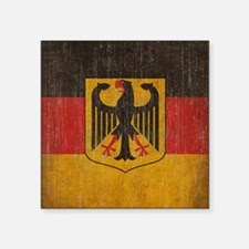 "Vintage Germany Flag Square Sticker 3"" x 3"""