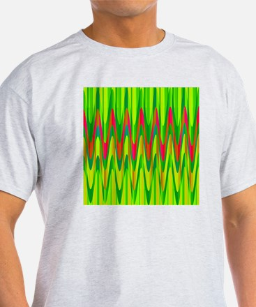 Wild Zigzag Green and Hot Pink T-Shirt