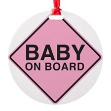Baby on Board Ornament