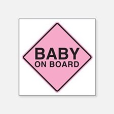 "Baby on Board Square Sticker 3"" x 3"""