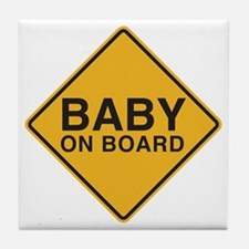 Baby on Board Tile Coaster