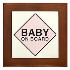 Baby on Board Framed Tile