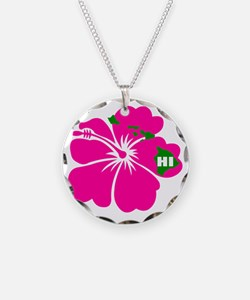 Hawaii Islands  Hibiscus Necklace