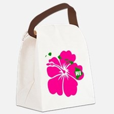 Hawaii Islands  Hibiscus Canvas Lunch Bag
