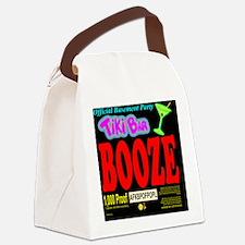 BPWineLabelBoozeBlack Canvas Lunch Bag