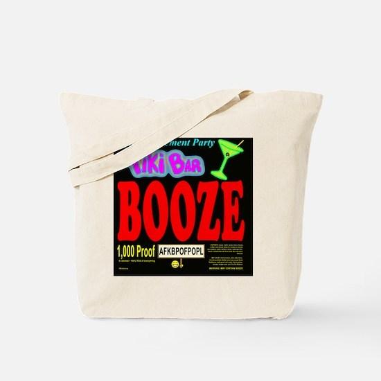 BPBoozeLabelBlack Tote Bag