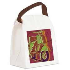vespa-hard ipad cover Canvas Lunch Bag