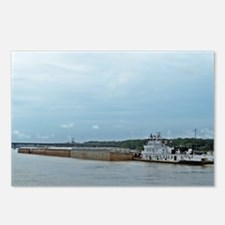 Mississippi River Barge Postcards (Package of 8)