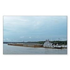 Mississippi River Barge Decal