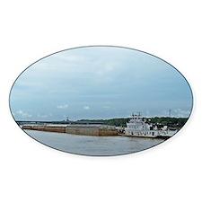 Mississippi River Barge Decal