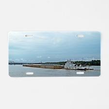 Mississippi River Barge Aluminum License Plate