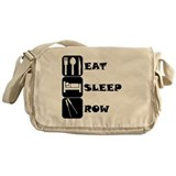 Eat sleep row Messenger Bags & Laptop Bags
