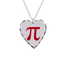 pi white Necklace Heart Charm
